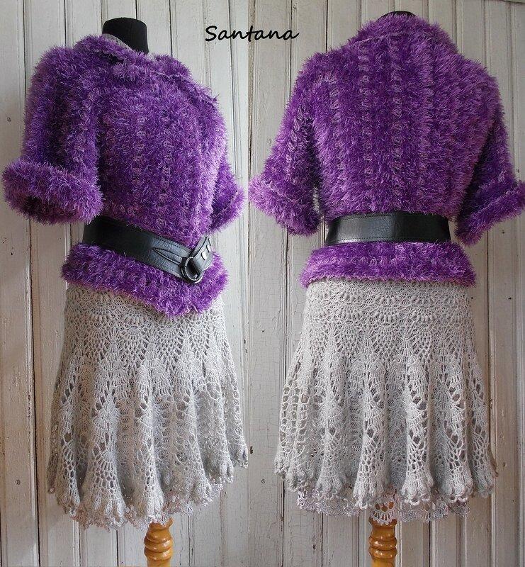 Серое платье и шубка. Коллаж 4-2