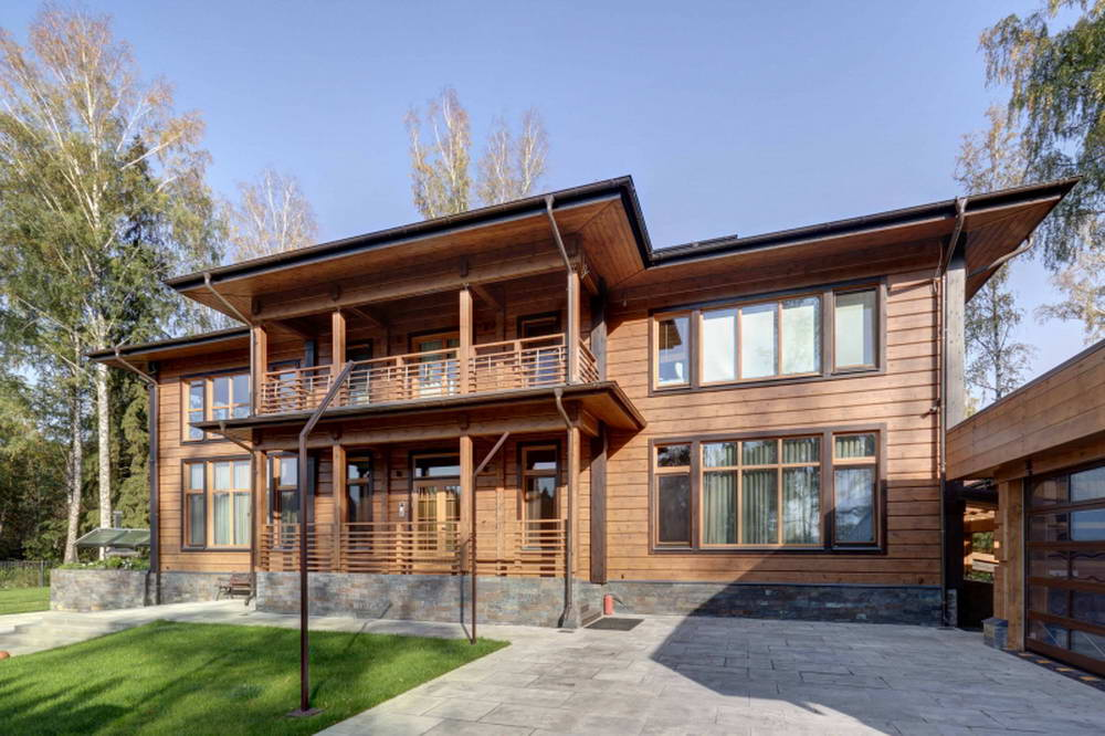 Wooden house in the Moscow region