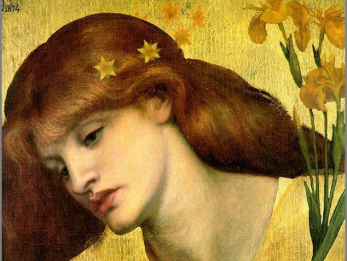 Данте Габриэль Россетти. Sancta Lilias, 1874. Фрагмент Прерафаэлиты считали, что нужно писать