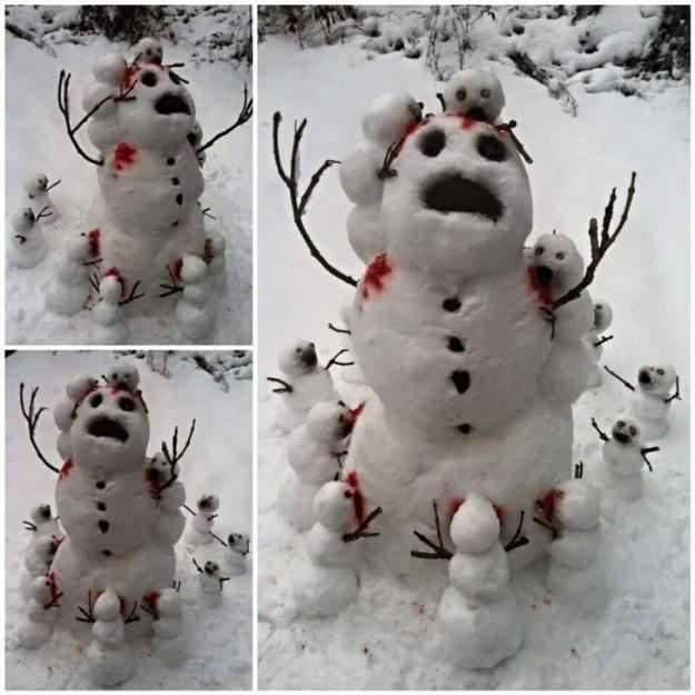 Уберите детей от экрана! Сцена снежного каннибализма.