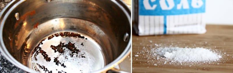 4. Уксус  Замечательное средство для очистки нержавейки и алюминия. Натрите емкость 9%-ным у