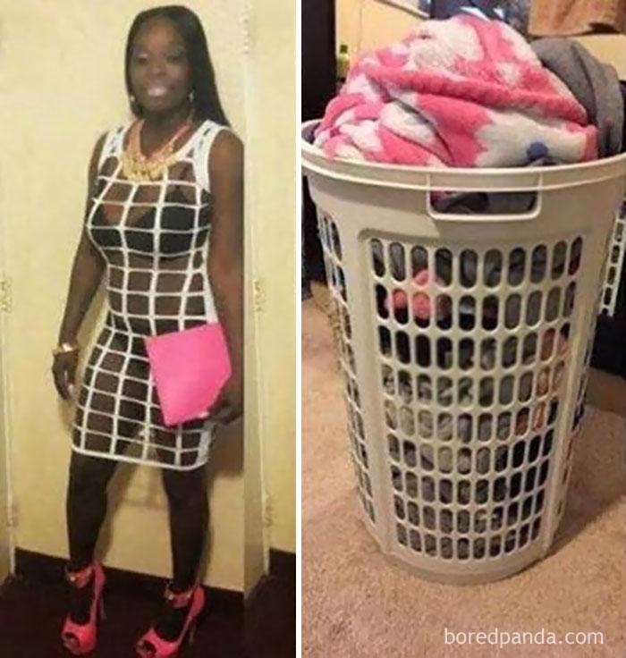 Эта девушка или корзина для белья?