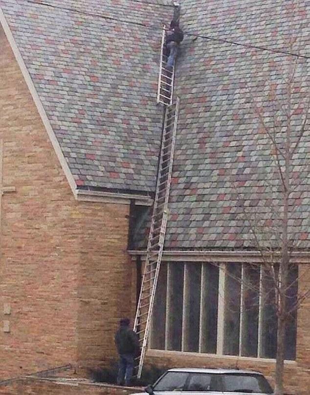 Если и существует какой-либо безопасный способ крепления лестниц, мы можем с точностью утверждать, ч