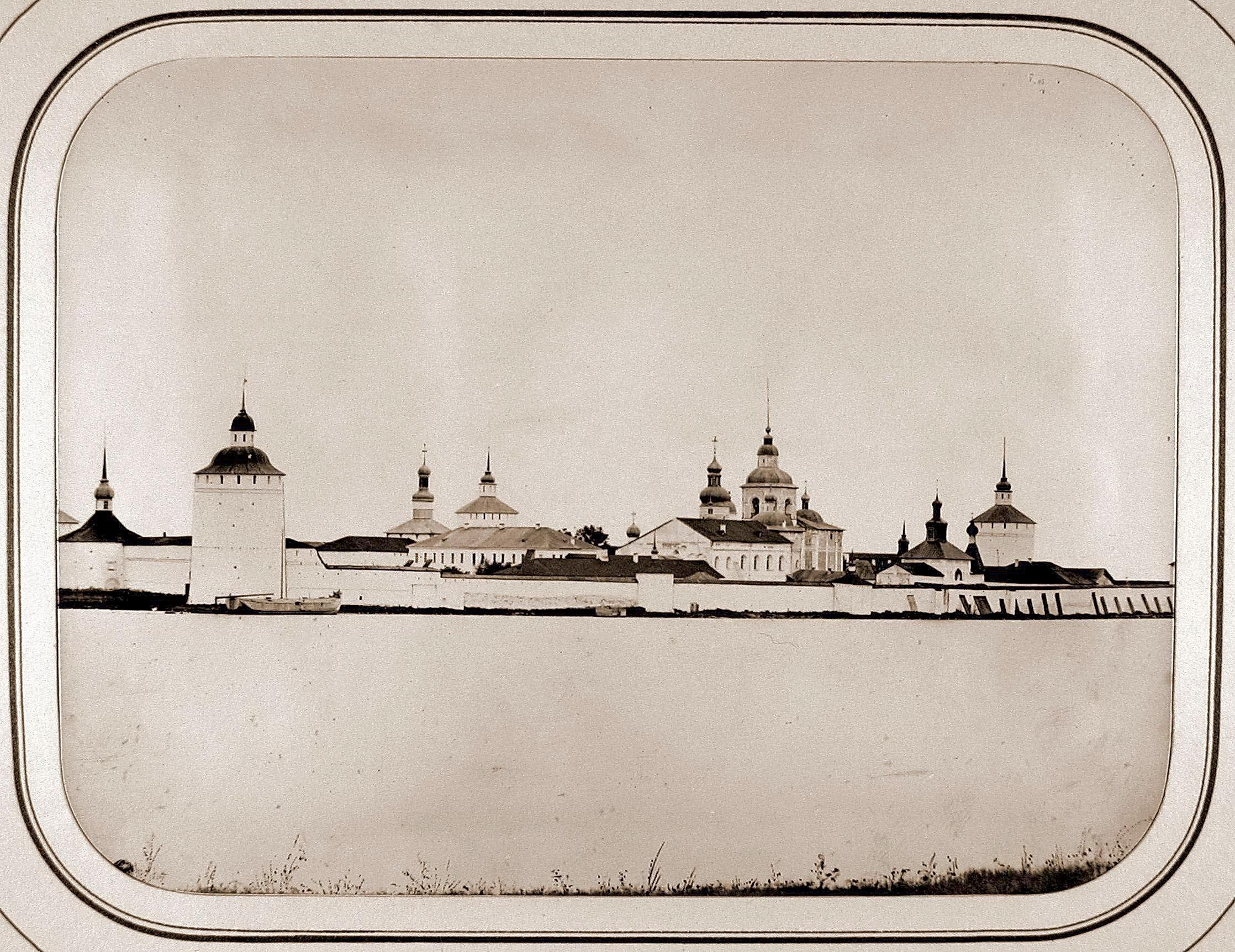 Вид на Кирилло-Белозерский мужской монастырь на Сиверском озере. 1865