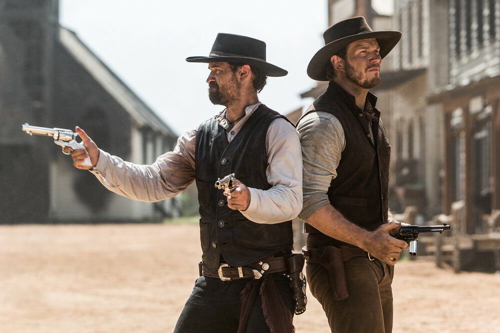 Manuel Garcia-Rulfo and Chris Pratt star in Metro-Goldwyn-Mayer Pictures and Columbia Pictures' THE MAGNIFICENT SEVEN.