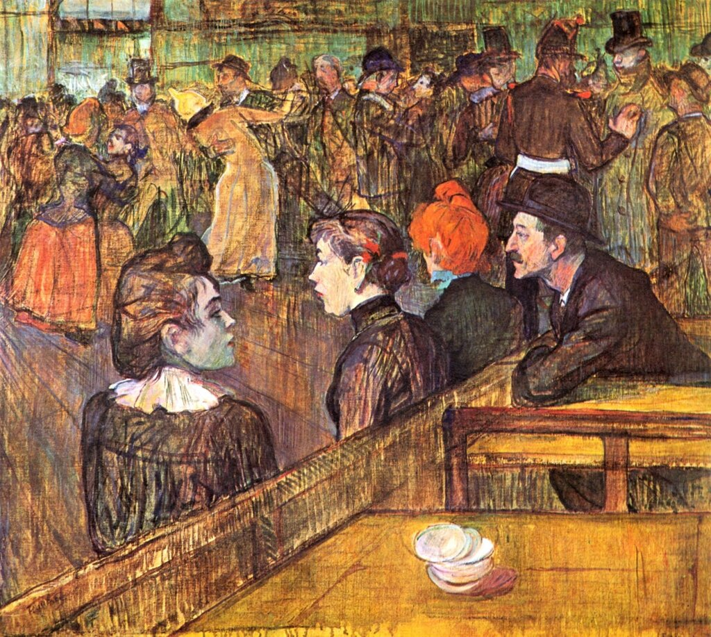 At the Moulin de la Galette Dance Hall  -  1889 - Art Institute of Chicago - Painting - oil on canvas.jpg