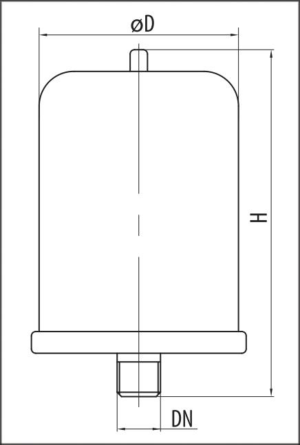 Расширительный бак Sprut VT 8 размеры