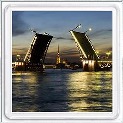 Магнит сувенирный Петербургский мост