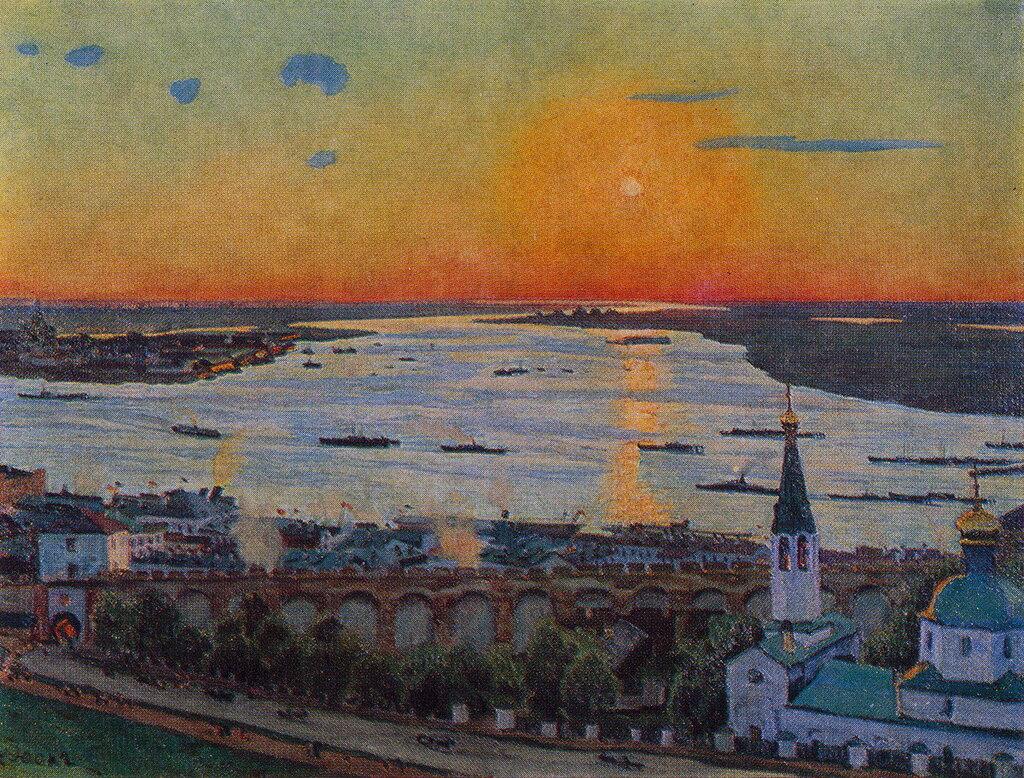 1911 Закат на Волге. Нижний Новгород. Х., м. 80х107,5. Н.Новгород.jpg