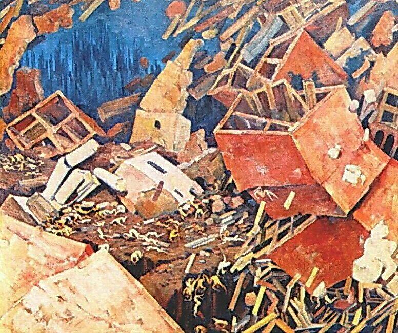 1922 Симфония действия. X., м. 78х92. Частное собрание. Москва.jpg