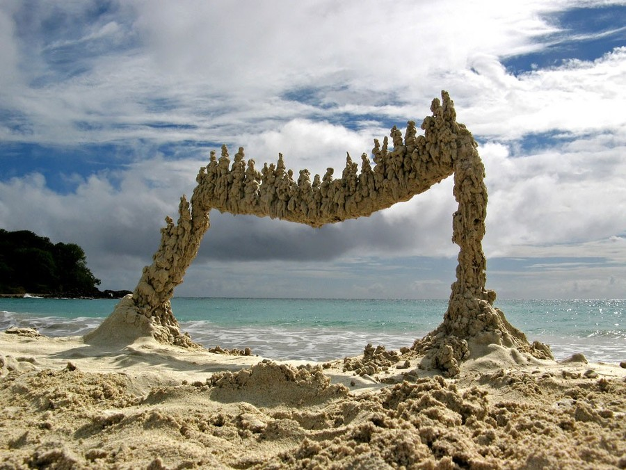Песочные скульптуры, Пуэрто-Рико.