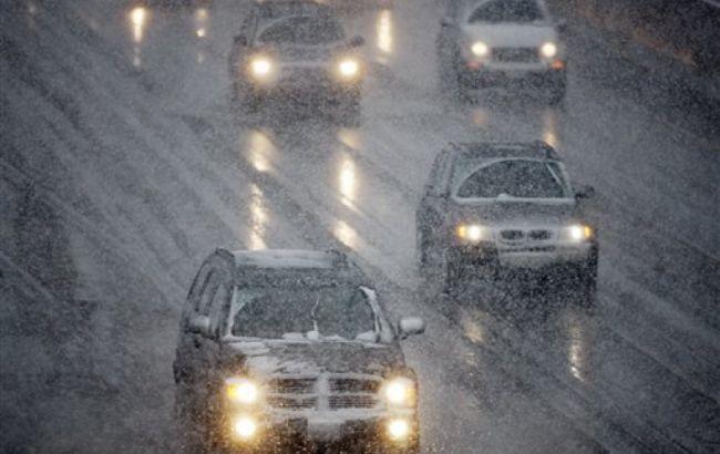 Водителей украинской столицы предупредили огололедице на трассах