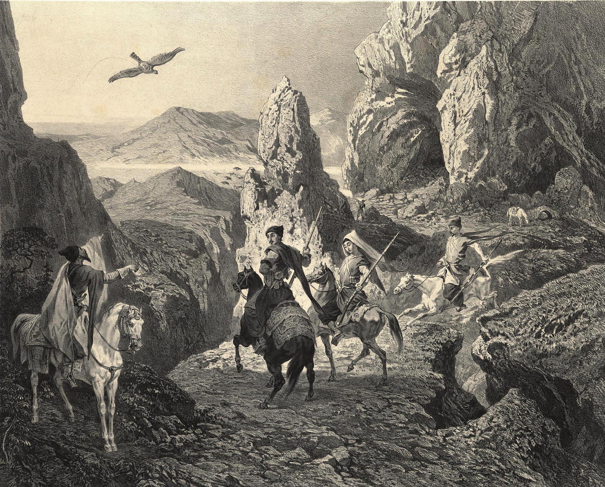 20. Armenie. Chasse au faucon, environs d'Erivan. / Армения. Соколиная охота в окресностях Эривани