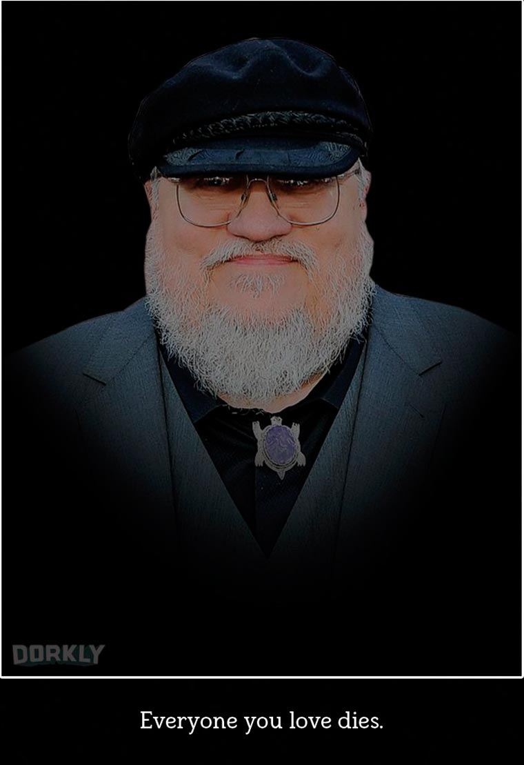George R. R. Martin Images © Julia Lepetit / source