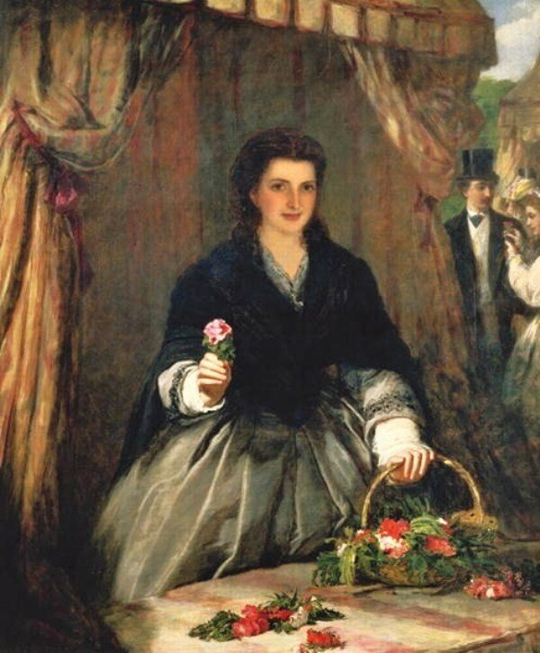William Powell Frith (English Painter, 1819-1909) Flowerseller 1865.jpg