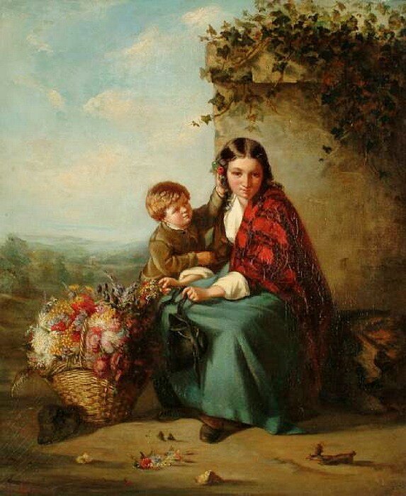 William Powell Frith (English Painter, 1819-1909).The Flower Girl's Young Helper.jpg