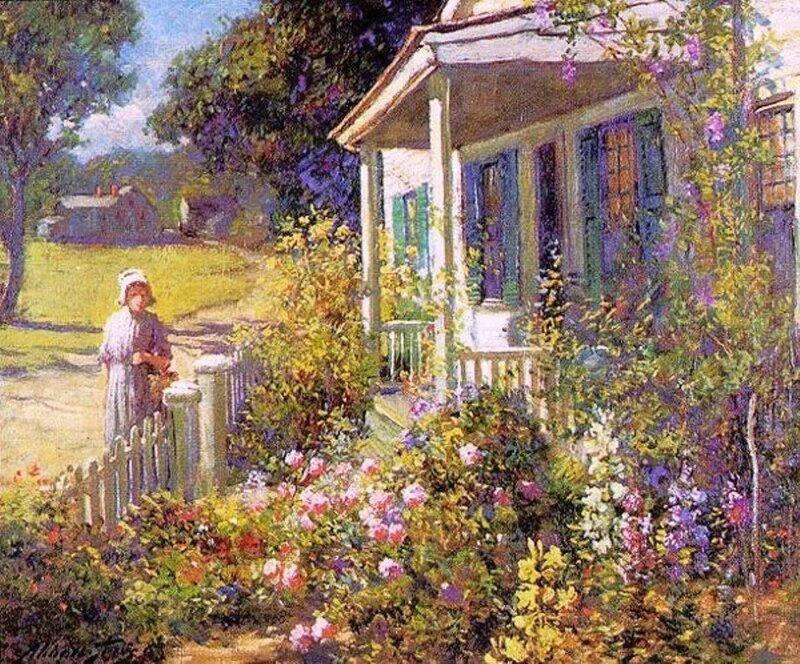 4 Abbott Fuller Graves (American artist, 1859 – 1936) Summer Garden.jpg