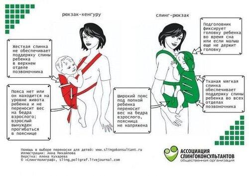 Отличия эрго-рюкзака от кенгуру