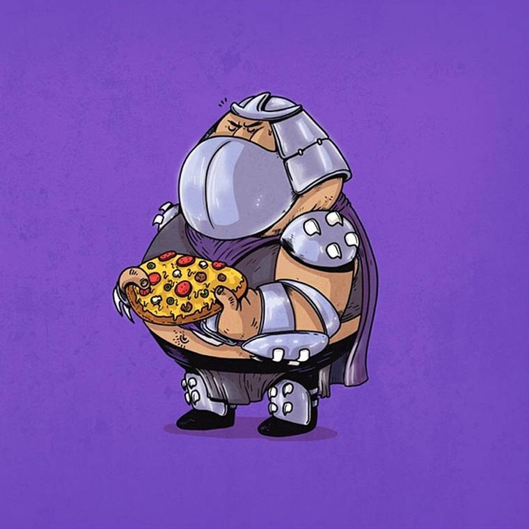 Fat Pop Culture – 39 nouvelles illustrations obeses d'Alex Solis !