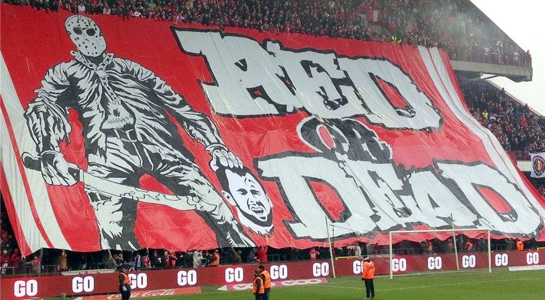 Soccer tifos / Гигантские баннеры футбольных болельщиков со со стадионов по всему миру - Standard Liege