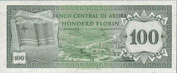 Аруба, 100 флоринов, 1986