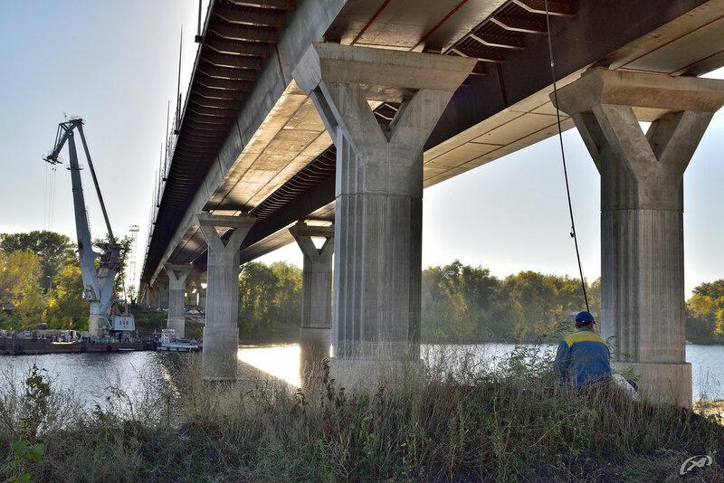 Мост через р. Ахтуба, октябрь 2016