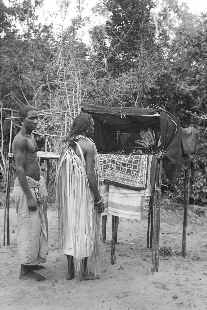 251. Калкуда. Подготовка к ритуальному танцу у веддов