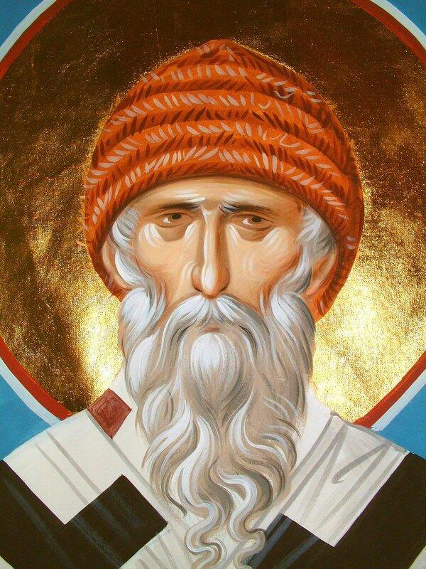 Святитель Спиридон, Епископ Тримифунтский, Чудотворец. Иконописец Александр Рудой.
