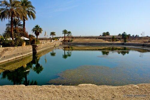 египет, карнак, ритуальный пруд