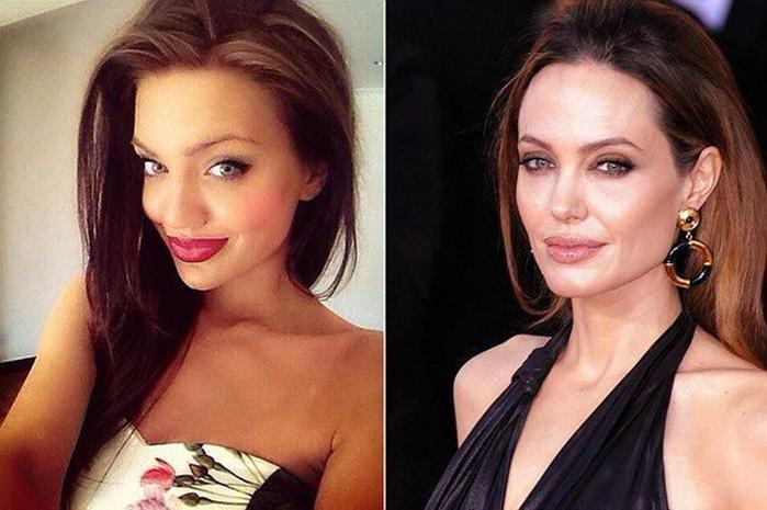 Шотландская девушка двойник актрисы Анджелины Джоли