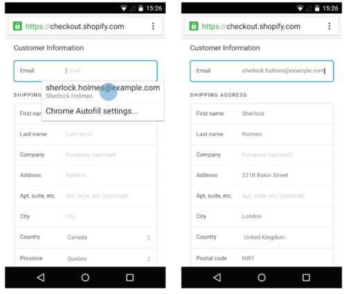Google рекомендует применять автозаполнение форм для мобильных устройств