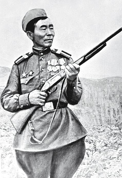 360 немцев сибирского снайпера Номоконова