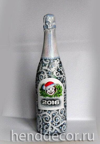 Традиционно - декупаж шампанского