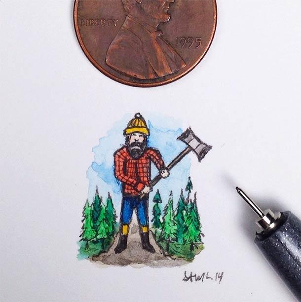 18 illustrations miniatures de Sam Larson