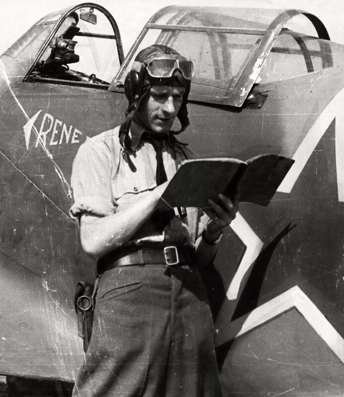 Antonнn Vendl, jeden z pilotщ 1. иeskoslovenskйho stнhacнho leteckйho pluku.