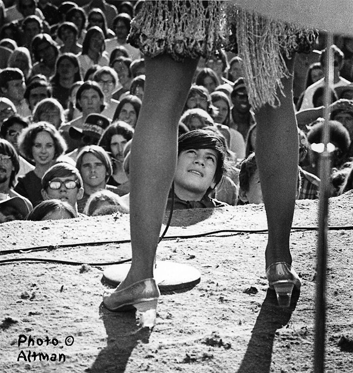 """The Gold Rush festival, October 4, 1969 – Tina Turner, """"The Fan""""  by © Robert Altma"""
