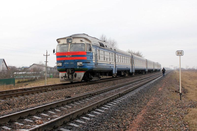 ДР1А-131 на станции Молодечно