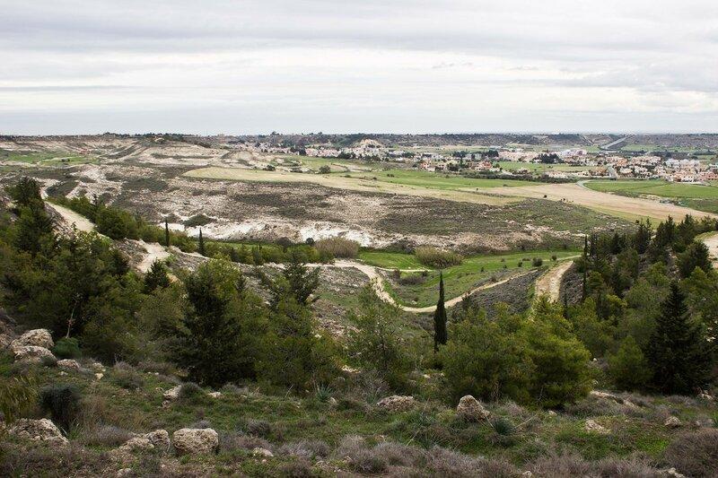 вид на городок Пила у буферной зоныъ