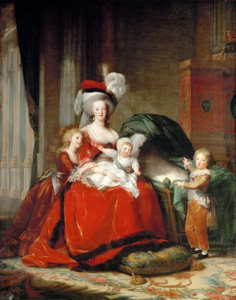 Мария-Антуанетта Лоррейн-Хабсбург, Королева Франции, и её дети.