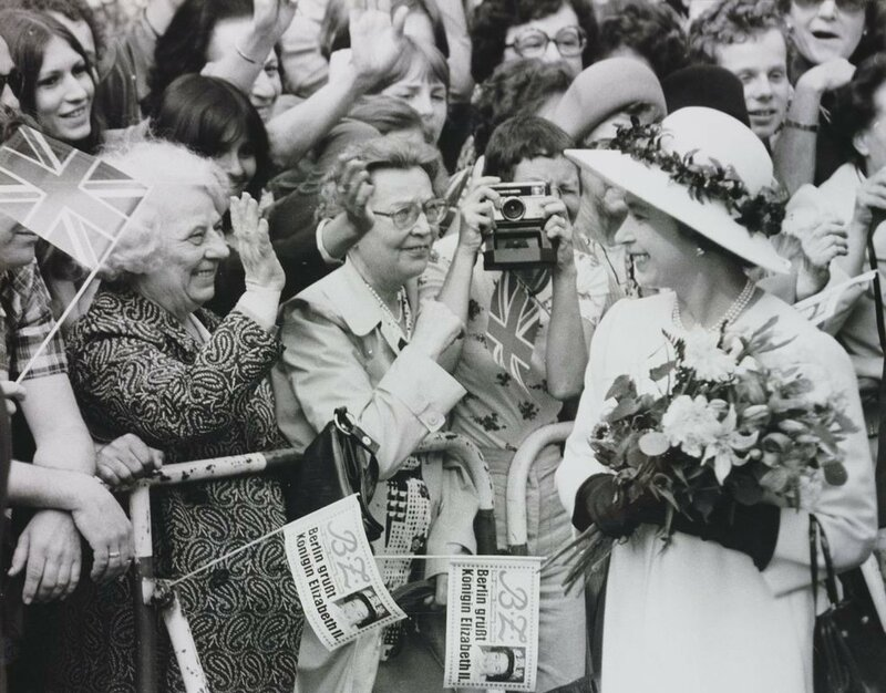 HM Queen Elizabeth II meets the people of Berlin during a walkabout  May 1978