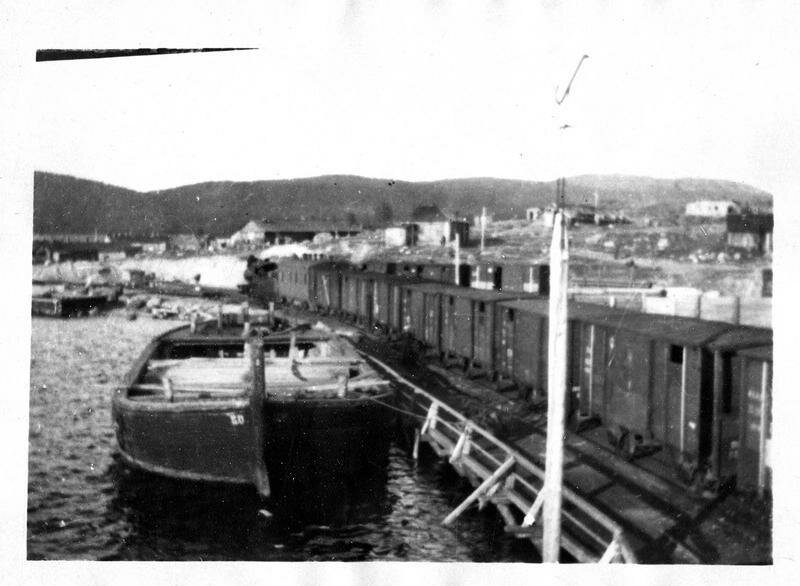 1918. Кандалакша. Поезд, доставивший лидеров союзных миссий  в Мурманск