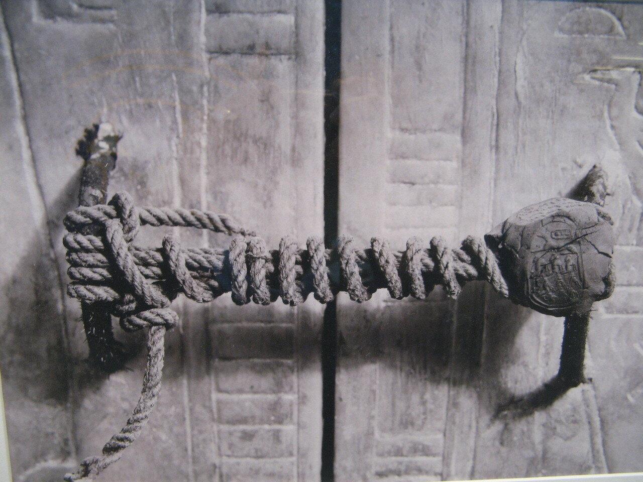 Печать на дверях в гробницу