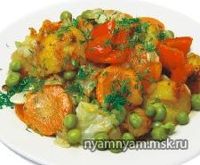 Овощи тушеные по-бенгальски