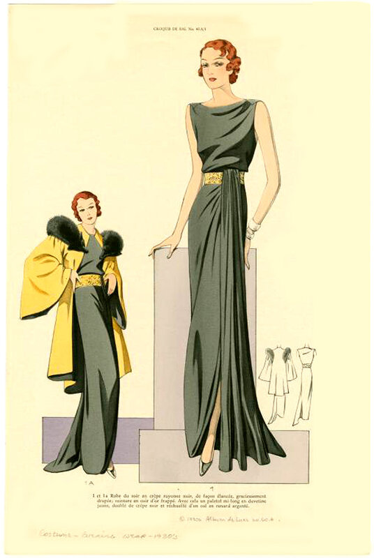 Женская мода 1934 года - часть первая.  Женская мода с 1910 по 1919.
