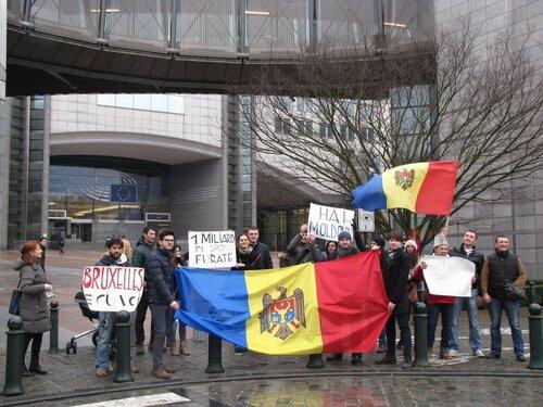 Молдавская диаспора в Европе поддержала протесты