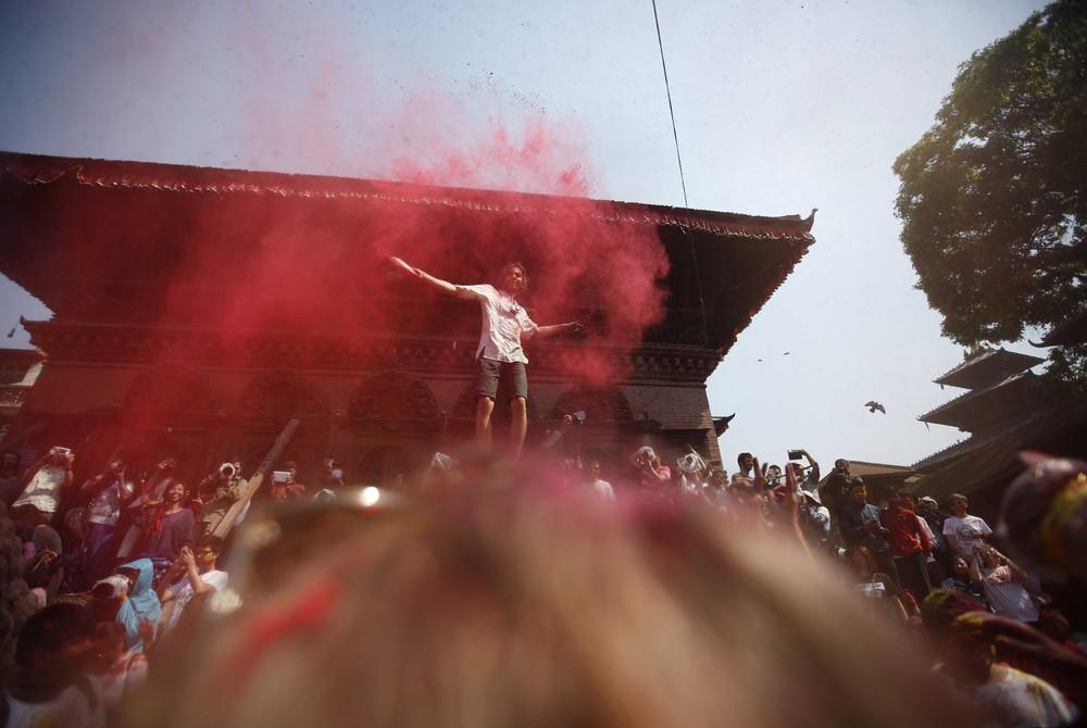 Фестиваль красок в Непале