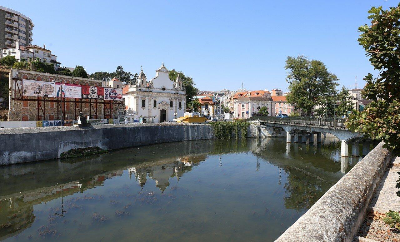 Leiria. The Lis river embankment (Rua do Lis)