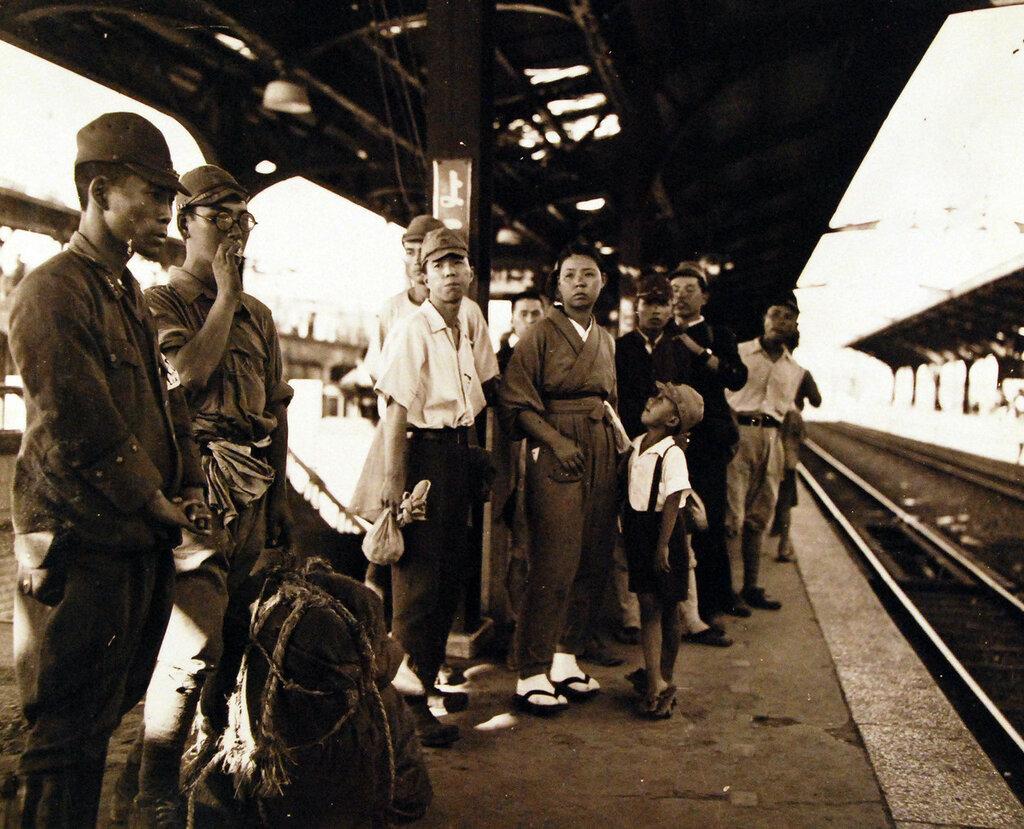 Railroad station. September 1945