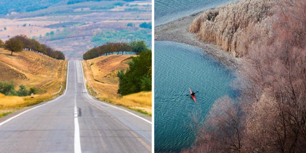 Молдавия очень маленькая, новней все равно можно найти интересные места. Здесь живописный север ст