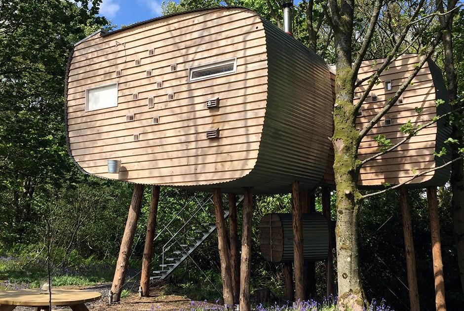 Проект Castle Douglas, Dumfries & Galloway, архитектурное бюро Echo Living Овальная избушка на высок